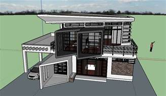 house design modern zen 2 storey modern zen house design sketchup model cad