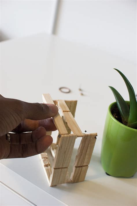 Diy Plant Holder - diy plant holder with wooden clothespins mini