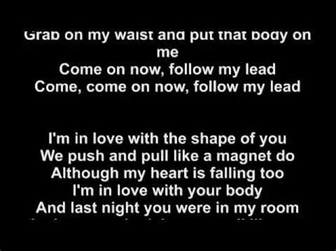 ed sheeran of you ed sheeran shape of you lyrics youtube
