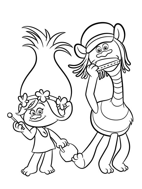 The Trolls Movie Pages Printable Coloring Pages Princess Poppy Coloring Page Free Coloring Sheets