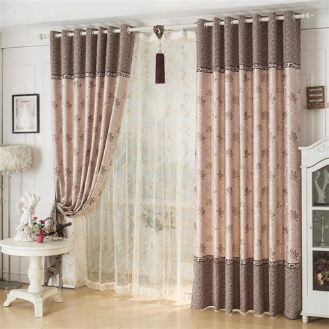 bedroom curtains on sale coffee waverly jacquard vintage poly cotton blend custom