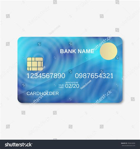 bank card design template bank card credit card discount card stock vector 350624090