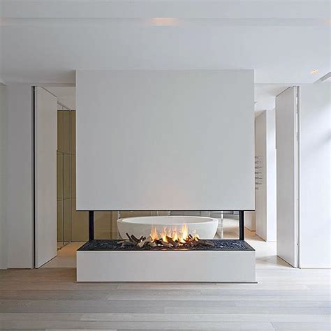 Airtight Fireplace by Best 25 Sided Gas Fireplace Ideas On