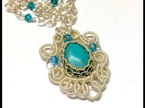 How To Make Jewelry Out Of Wire - turquoise filigree pendant wire amp jewelry making tutorial preview youtube