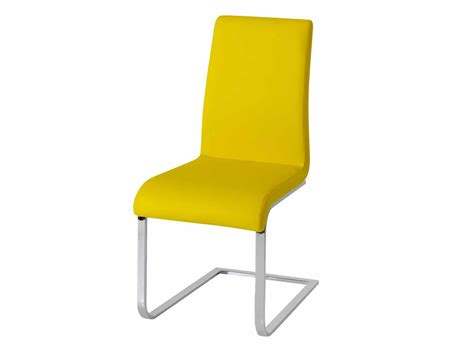 Yellow Chair Covers by Original And Bright Modern Yellow Leather Dining Chairs