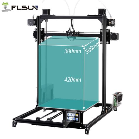 Keset Printing Panel 3 flsun 3d printer kit large printing area 300 300 420mm autolevel dual extruder touch screen 2