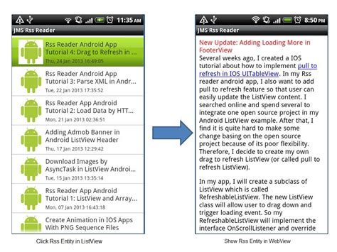 tutorial android rss reader rss reader android app tutorial 5 show website content in