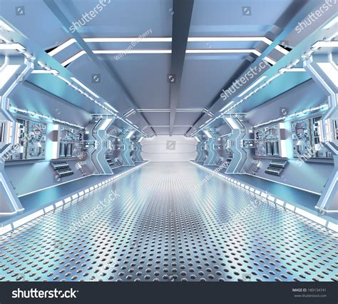 Wall Design For Hall by Futuristic Design Spaceship Interior Metal Floor Stock