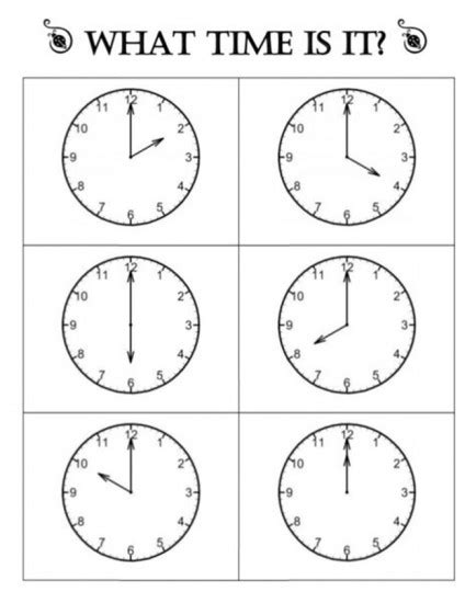 clock worksheets on the hour telling time worksheets kindergarten worksheets for all