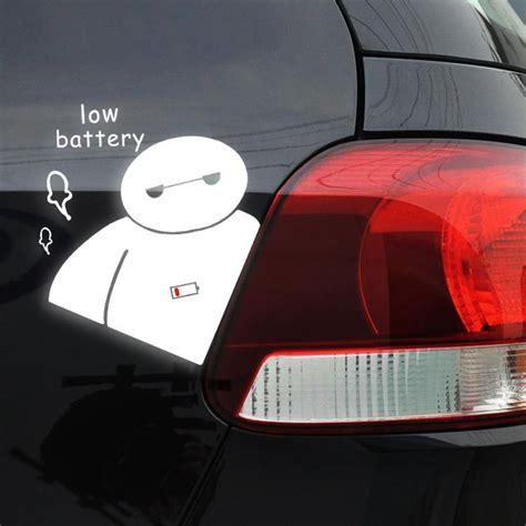 Auto Sticker Low by Newest Big Hero 6 Baymax Low Battery Car Body Stickers Car