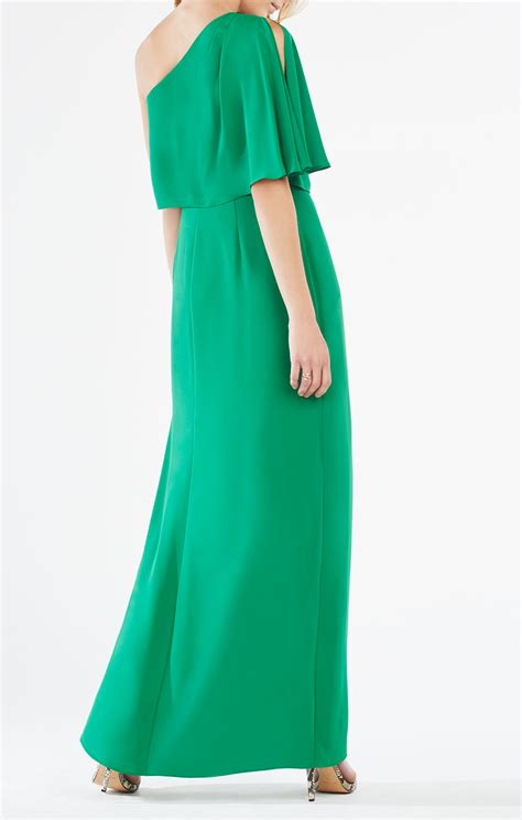 bariano draped shoulder gown secha one shoulder draped gown