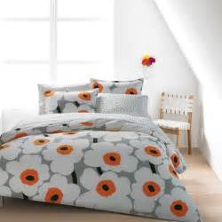 orange duvet sets marimekko unikko grey white orange duvet set marimekko