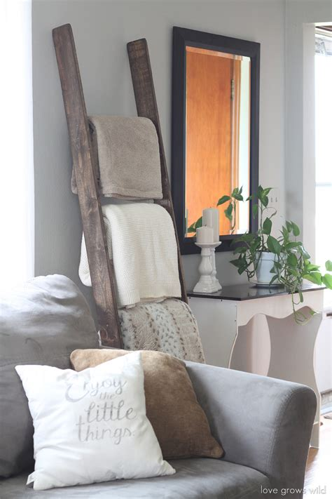 living room throws diy blanket ladder love grows wild