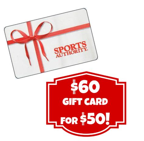 Sport Authority Gift Card - 60 sports authority gift card for 50 12 16 only