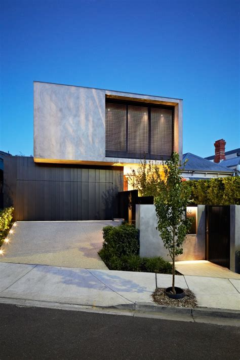 modern design house fortress exterior reveals open interiors surrounding