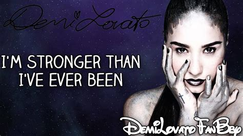 what is demi lovato s warrior song about demi lovato warrior lyrics on screen hd youtube