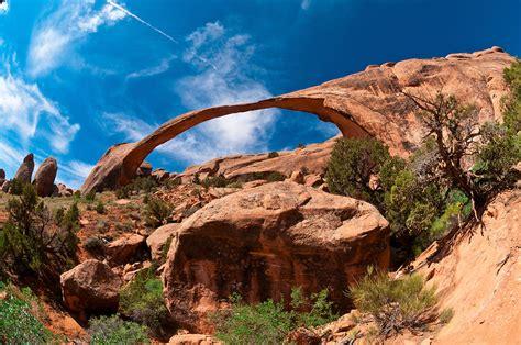 Landscape Arch Moab Landscape Arch Arches National Park Near Moab Utah Usa