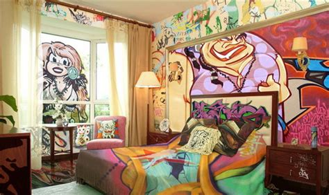 16 Cool Graffiti Wall Mural Ideas Critical Cactus Graffiti Designs For Bedrooms