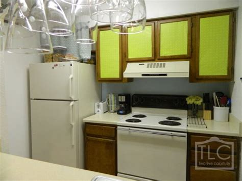rental kitchen ideas rental decorating ugly cabinet fixes with painted poster