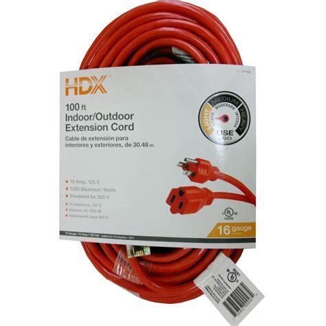 100 Ft X 14 Indoor Outdoor Extension Cord - hdx 100 ft 16 3 indoor outdoor extension cord orange hd