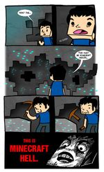 this is minecraft hell / minecraft :: pick :: funny
