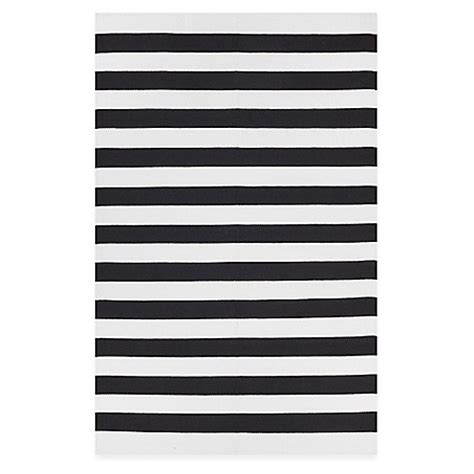 black and white striped bath rug fab habitat nantucket stripe accent rug in black white bed bath beyond