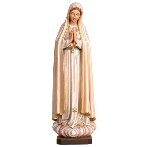 lade di sale our of fatima style woodcarved statue