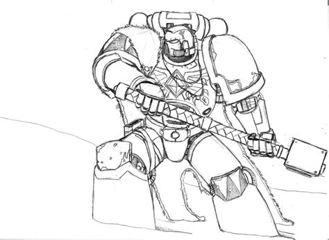 Space Marine Template by 40k Sketch Templates
