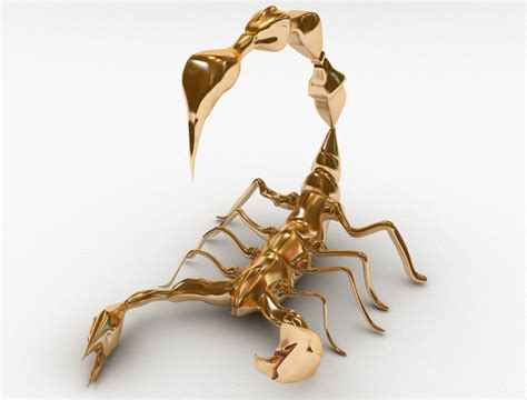 The Golden Scorpion gold scorpion version by kintaro kerjieh 3d artist