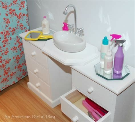 bathroom set at build it 9 crafts for your 18 american dolls craft gossip