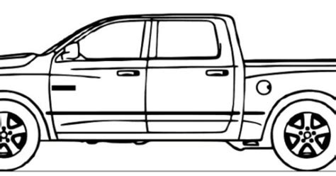 dodge ram truck coloring page embroidery vehicles