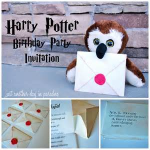harry potter birthday invites by just another day in paradise renovations home