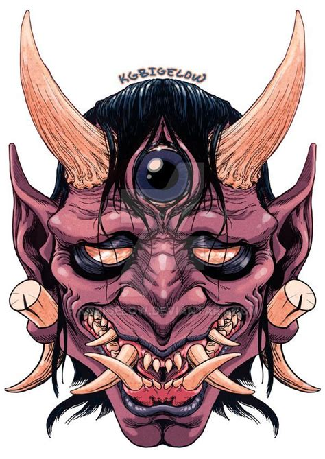 oni mask tattoo blind oni by kgbigelow arts oni mask