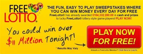 Free Lotto Online Sweepstakes - rules freelotto download lengkap