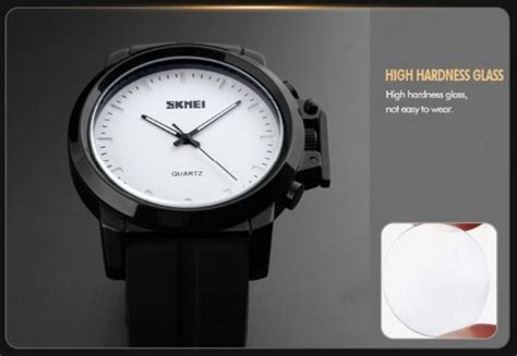 Skmei Casual Leather Water Resistant 30m 1208 Emws5y skmei jam tangan analog pria kulit 1208 black jakartanotebook