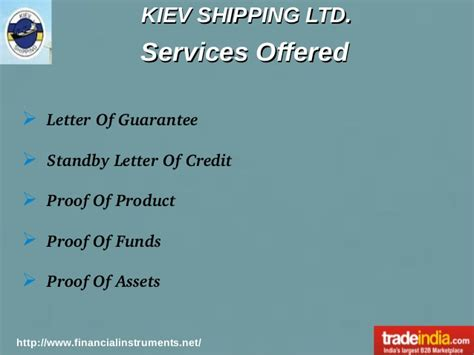 Mt760 Guarantee Standby Letter Of Credit kiev shipping ltd service provider based in ukraine