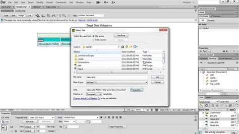tutorial in dreamweaver cs6 tutorial php dasar di dreamweaver cs6 youtube