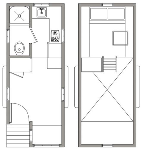 tiny house trailer floor plans cozy 165 square foot tiny house on a trailer