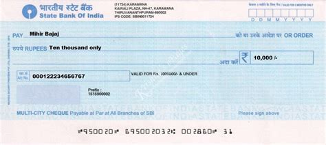 Who Is The Drawer Of A Bank Cheque by Cheque De India