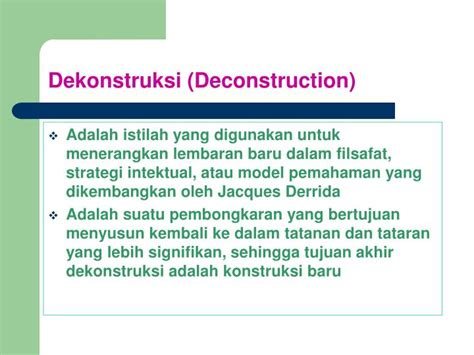 Analisis Wacana Teori Dan Metode ppt dekonstruksi dalam penelitian cultural studies