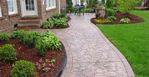 Walkway Decorations by Concrete Walkway Ideas Home Design Ideas