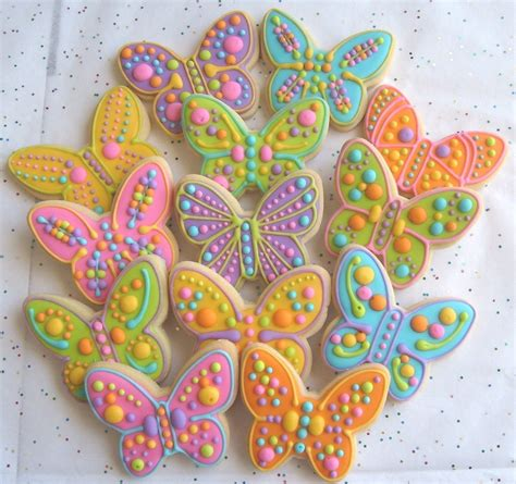 Large Decorated Cookies by Large Butterfly Decorated Cookie Favors Butterfly Decorated