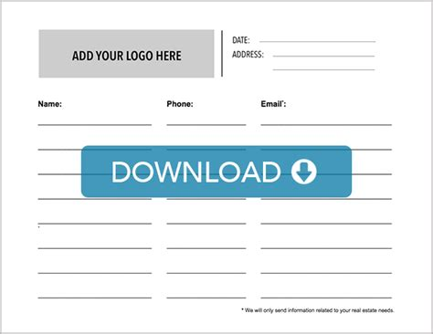 free real estate open house sign in sheet real estate open house sign in sheet free template download placester