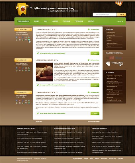 wordpress blog template 1 by siostranocy on deviantart