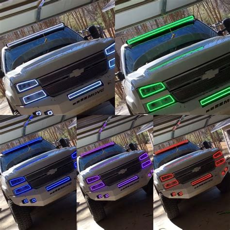 multi color led light bar 50 52 quot quot led color light bar halo rgb multicolor kit jeep