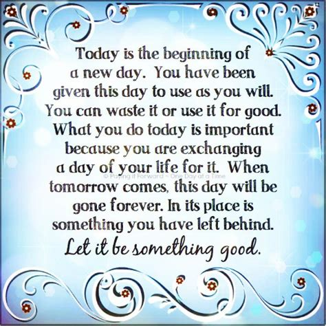 Its A New Day And A New Lookwel 2 by Today Is The Day Made A Difference Will You