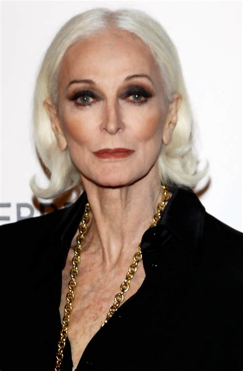 70 year old woman what make up to use carmen dell orefice photos photos alberta ferretti