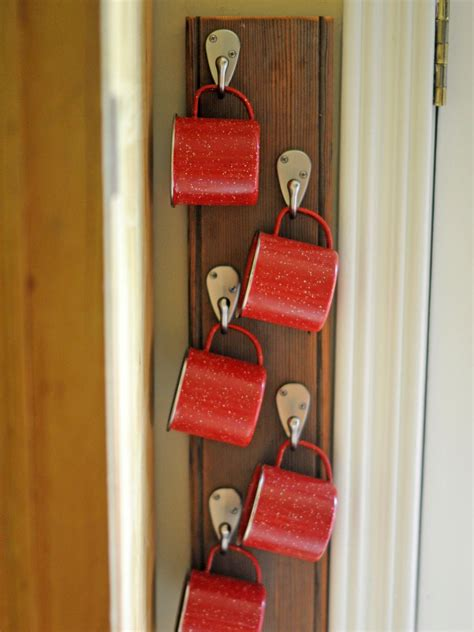 mug hanging rack clever uses for everyday items in the kitchen interior