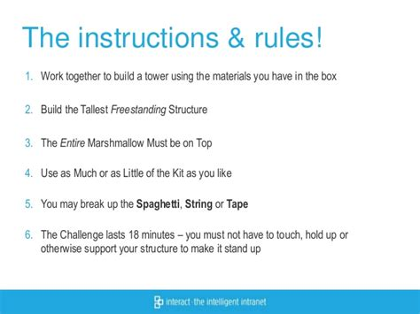 marshmallow challenge instructions the collaboration challenge