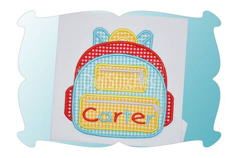 Applique Backpack backpack applique digistitches machine embroidery designs